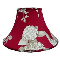 Rosewood Red Hydrangea Empire Fabric Lampshades
