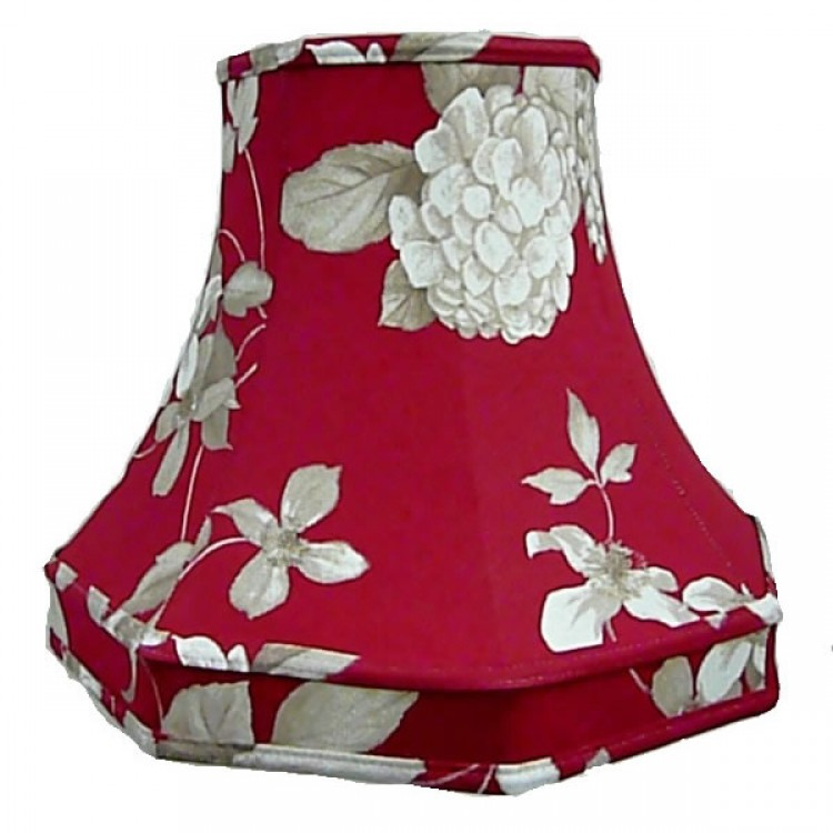 Rosewood Red Hydrangae Octagonal Fabric Lampshades