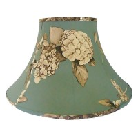 Teal Blue Hydrangea Empire Fabric Lampshades
