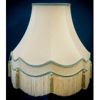 Cream and Light Green Gallery Fabric Lampshades