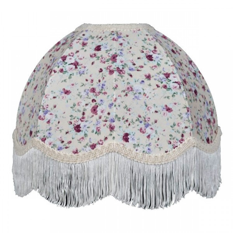 Lilac Floral Dome Fabric Lampshades