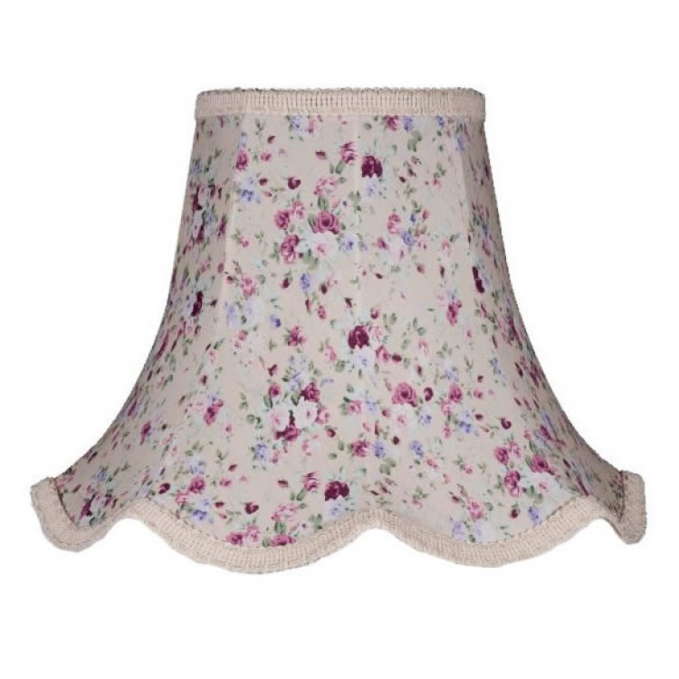Lilac Floral Modern Fabric Lampshades