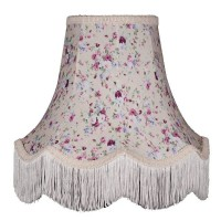 Lilac Floral Fabric Lampshades