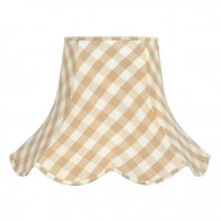 Natural Cream Gingham Check Modern Fabric Lampshades
