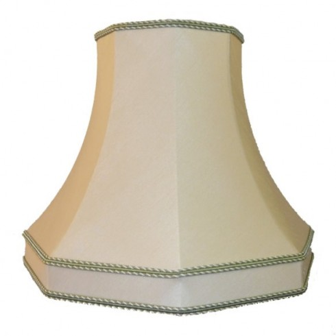 Cream and Light Green Octagonal Fabric Lampshades