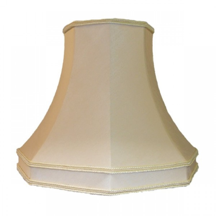 Cream Octagonal Fabric Lampshades