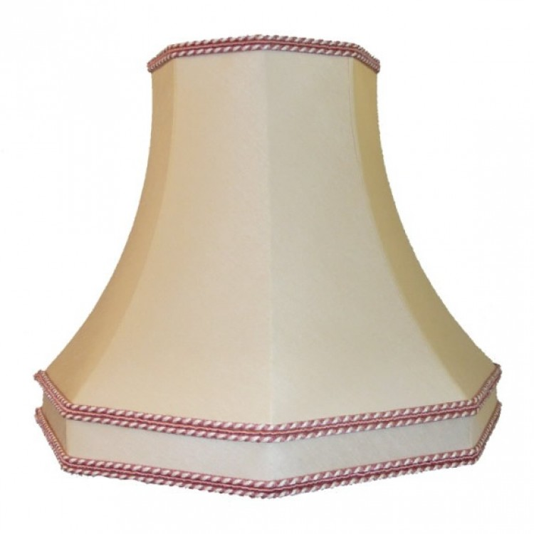 Cream and Pink Octagonal Fabric Lampshades