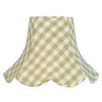 Pampas Green Gingham Check Modern Fabric Lampshades