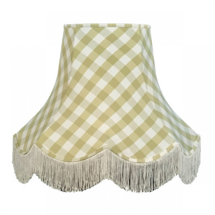 Pampas Green Gingham Check Fabric Lampshades