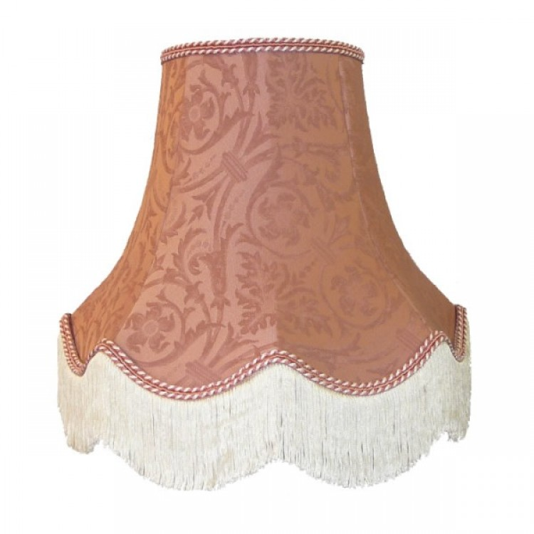 Pink Brocade Fabric Lampshades