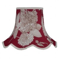 Rosewood Red Hydrangea Floral Modern Fabric Lampshades