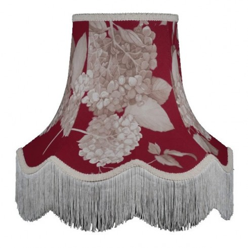 Rosewood Red Hydrangea Fabric Lampshades