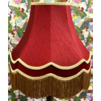 Rosso Red and Gold Double Fabric Lampshades
