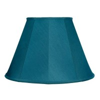 Slate Blue Contemporary Fabric Lampshades