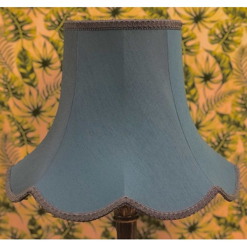 Slate Blue Modern Fabric Lampshades