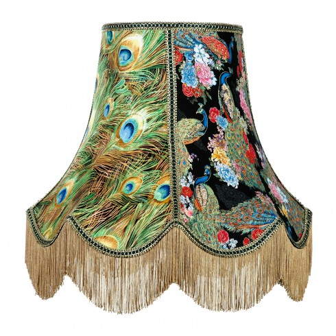 Bird of Juno Peacock Feather Fabric Lampshades