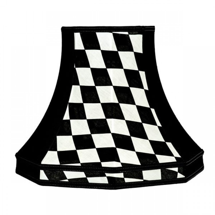 Harlequin Black and White Octagonal Fabric Lampshades