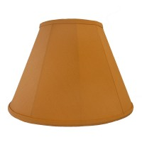 Light Orange Peach Contemporary Fabric Lampshades