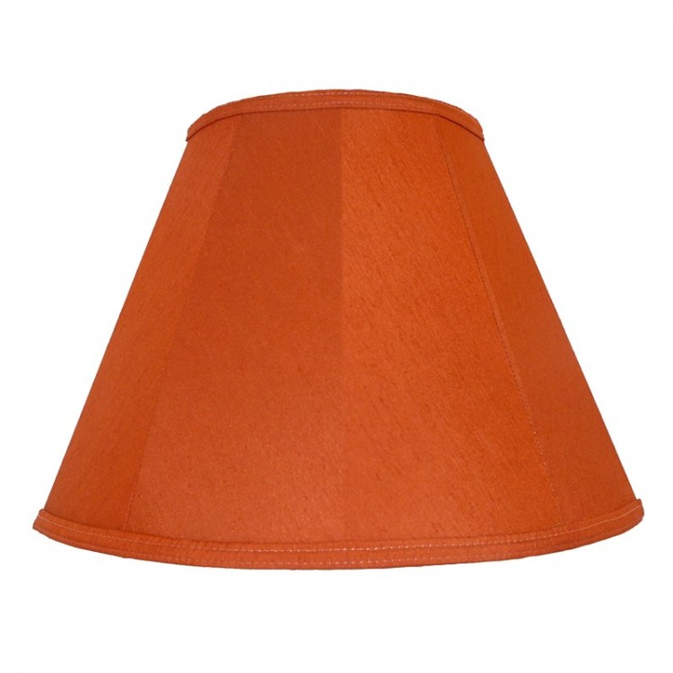 Terracotta Orange Contemporary Fabric Lampshades