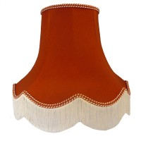 Terracotta Orange Fabric Lampshades