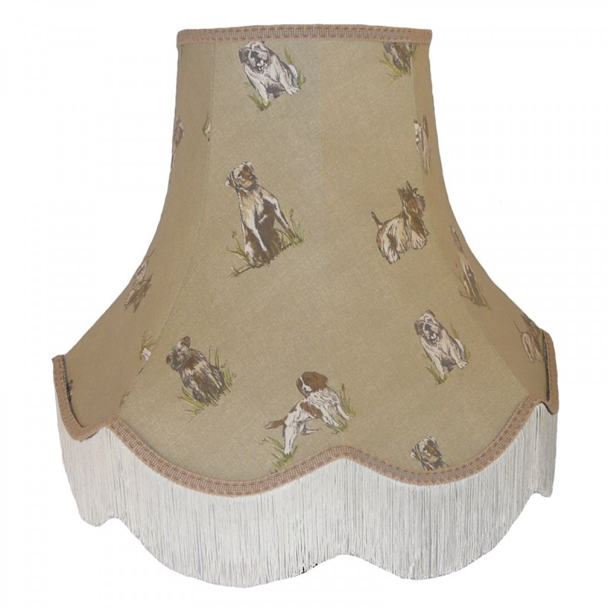 Dogs design fabric lampshade dogs design mozeypictures Image collections