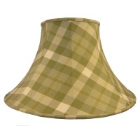 Moss Green Check Empire Fabric Lampshade