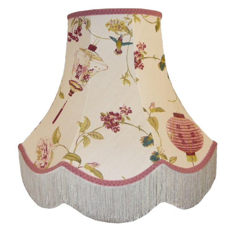 Oriental Design Fabric Lampshades