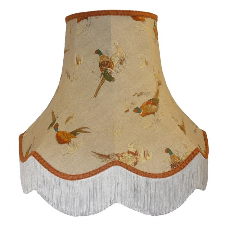 Pheasant Design Fabric Lampshades