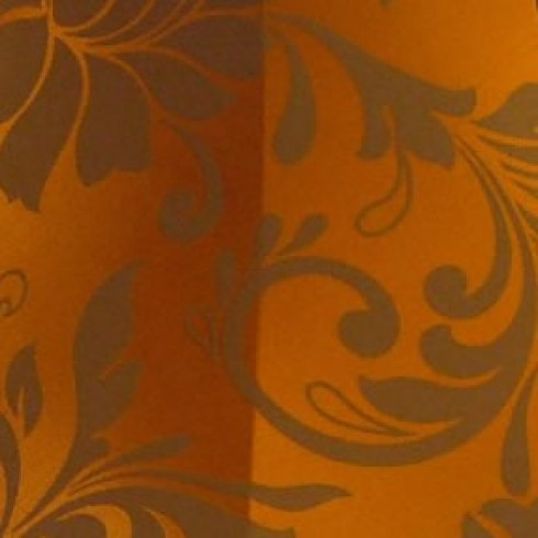 Orange Spice Brocade Swatch