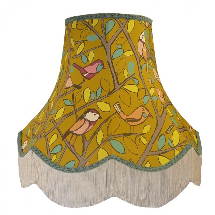 Tweety Bird Lime Green Fabric Lampshades