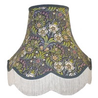 William Morris Blue Fabric Lampshades