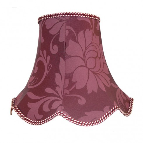 Wine Red Brocade Modern Fabric Lampshades