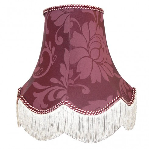 Wine Red Brocade Fabric Lampshades