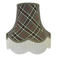 Grey Tartan Fabric Lampshades
