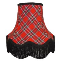 Red and Black Tartan Fabric Lampshades