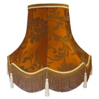 Harlequin Orange Spice Fabric Lampshades