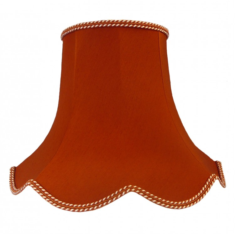 Terracotta Orange Modern Fabric Lampshades