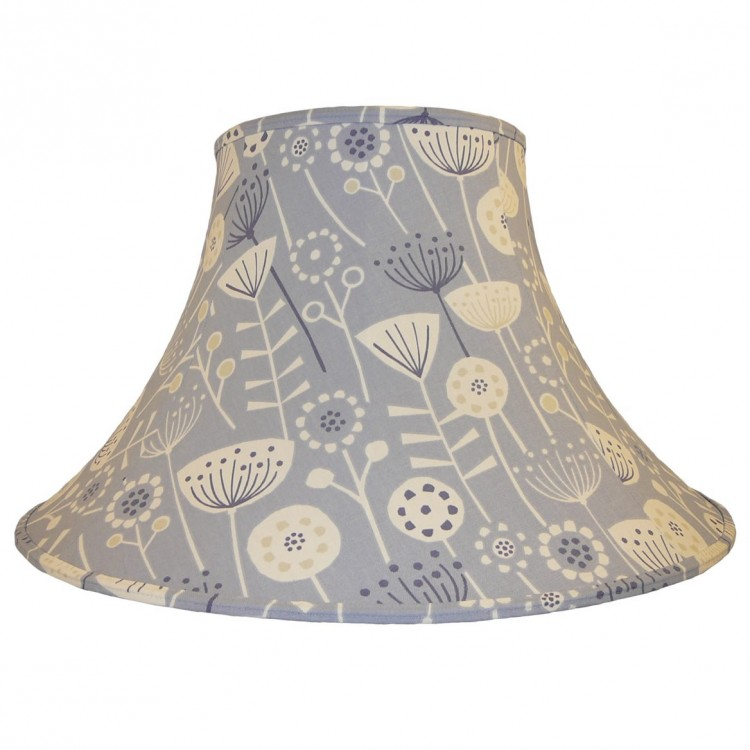 Bergan Blue Fabric Lampshades