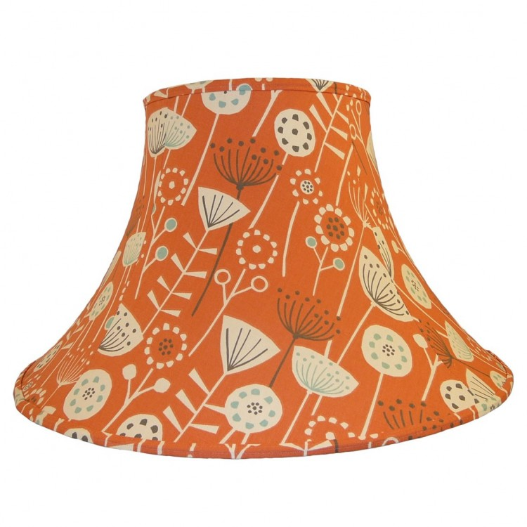 Bergan Burnt Orange Fabric Lampshades