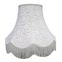 Cream French Lace Fabric Lampshades
