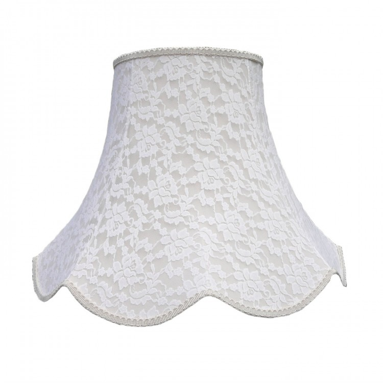 Cream French Lace Modern Fabric Lampshades