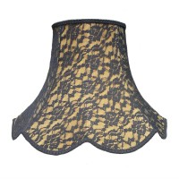 Gold and Black Lace Modern Fabric Lampshades