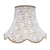 Gold and Cream Lace Modern Fabric Lampshades