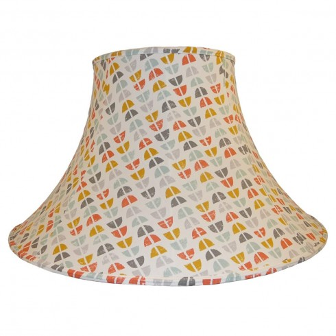 Odense Burnt Orange Fabric Lampshades