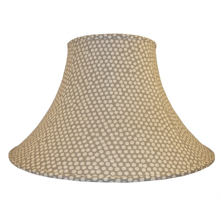 Spotty Light Grey Fabric Lampshades