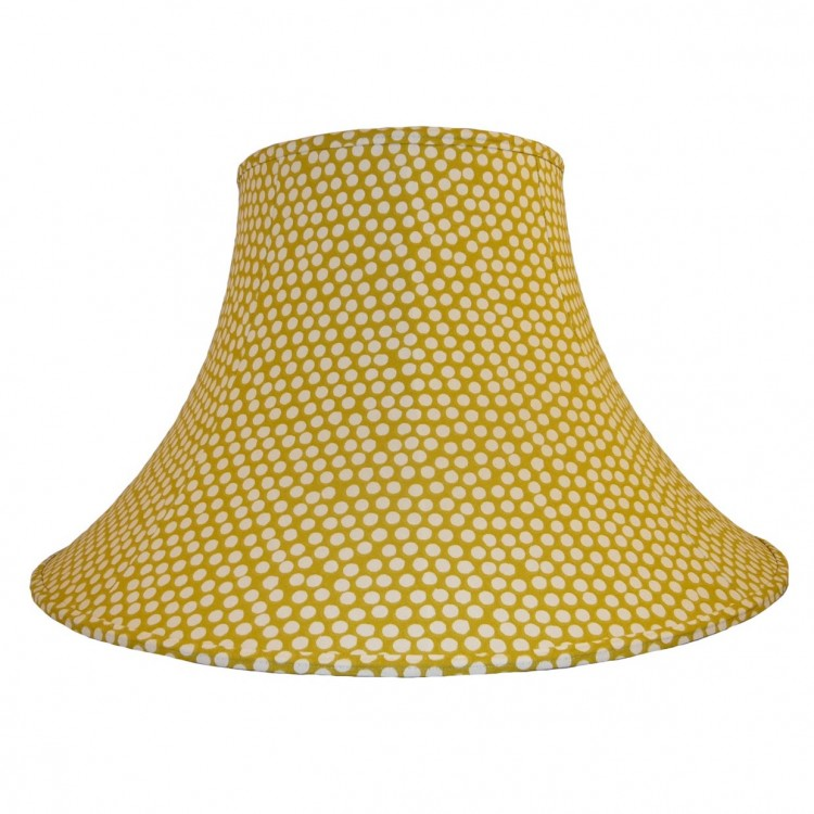 Spotty Ochre Yellow Fabric Lampshades