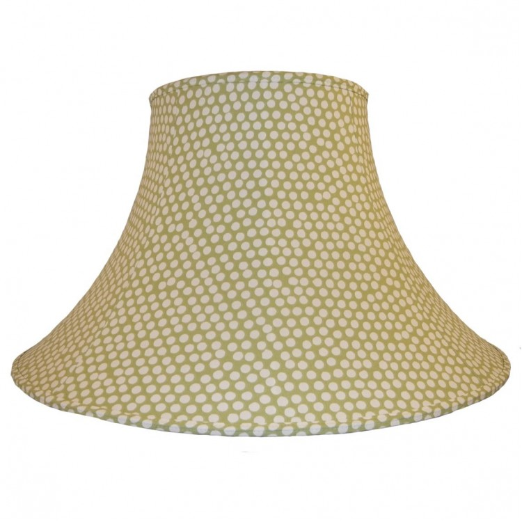 Spotty Sage Green Fabric Lampshades