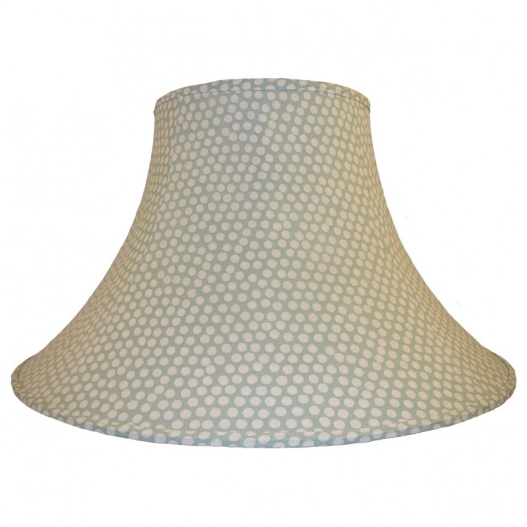 18 Inch Seafoam Spotty Fabric Lampshade