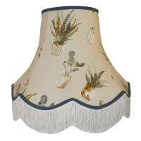 Cactus Blue Fabric Lampshades