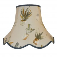 Cactus Blue Modern Fabric Lampshades